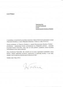 Honorowy Patronat Lecha Wałęsy