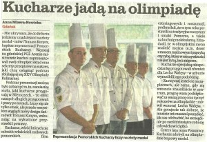 Relacje prasowe z prezentacji Pomerania-Culinary Team of Poland