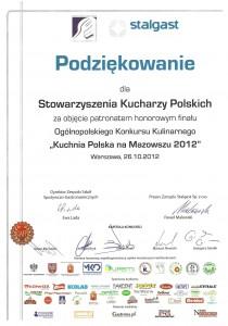 Działalność ogólnopolska Stowarzyszenia Kucharzy Polskich