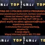 TOP CHEF – CASTING DO 3 POLSKIEJ EDYCJI