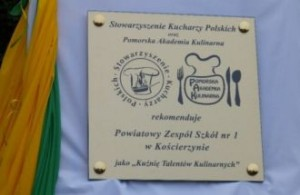 Kuźnia Talentów Kulinarnych w Kościerzynie. PZS nr 1 wyróżniony!