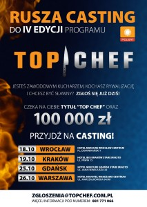 4. EDYCJA TOP CHEF – CASTING