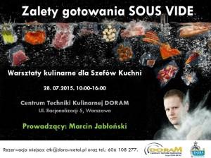Zalety gotowania SOUS VIDE / Warsztaty