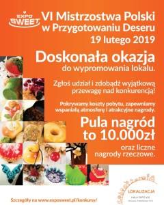 Mistrzostwa Polski w Przygotowaniu Deseru – ostatnia szansa na zgłoszenie udziału!